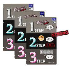 Holika Holika Pig Nose Clear Black Head 3-Step Kit Strong 3ea