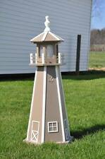 "Large 39"" SOLAR Lighthouse Poly Vinyl Yard Garden Decoration Outdoor Landscape"