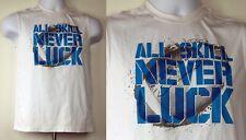"Starter ""All Skill Never Luck"" White Sleeveless Poly Football Shirt XL (16/18)"