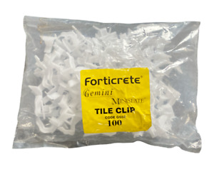 Forticrete Gemini Roof Tile Clips | White | Code G552 | Pack of 100