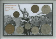 Wolverhampton Wanderers Wolves Vintage FA Cup Final Winners Coin Gift Set 1949