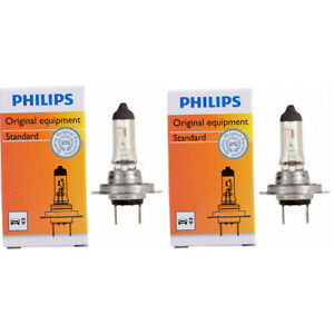 2 pc Philips Low Beam Headlight Bulbs for Porsche 911 Boxster Cayenne Cayman lo
