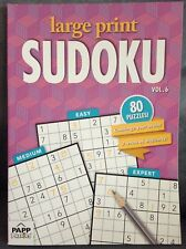 PAPP PUZZLES LARGE PRINT SUDOKU 80 PUZZLES VOLUME 6 - 82 PAGES WITH ANSWERS