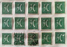 German Deutsches Reich 30 Pfennig Green Stamp 1921