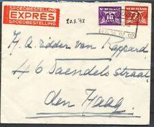 7½ EN 10 CT. DUIF OP EXPRESSE ENV.BILTHOVEN N.S. 21 MRT 1942 - RIDDER VAN  Ac755