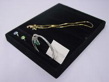 9l X 7w Black Velvet Bangle Ring Bracelet Necklace Display Tray Case Tp2b