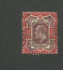 1902 Great Britain United Kingdom King Edward VII 10 pence Postage Stamps #137