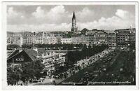 Ansichtskarte Hamburg - Jungfernstieg und Alsterpavillon - schwarz/weiß