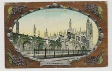 Cambridgeshire postcard - King's Screen, Cambridge (Embossed) - P/U 1911 (A24)