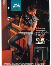 1991 PEAVEY BANDIT Amplifier COLIN JAMES Vtg Print Ad