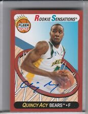 2012-13 FLEER RETRO #64 QUINCY ACY AUTOGRAPH ROOKIE RC BAYLOR BEARS 2226