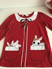 H&M Girls Red Christmas Top Size 122-128cm 7-8 Years