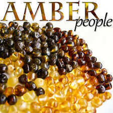 Authentic Baltic Amber Holed Loose Rounded Beads 20g * Random Colours*