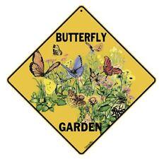 Butterfly Garden Sign NEW 12X12 Metal