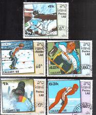 Laos 5 Briefmarken Gestempelt Olympia von 1988
