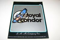 Vintage Catalog #736 - 1982 ROYAL CONDOR toy car catalog