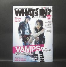 Japan『WHAT's IN? Aug/2008』 VAMPS HYDE K.A.Z  L'Arc〜en〜Ciel  Japanese magazine