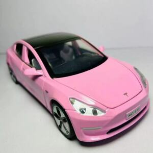 Pink - 1:32 Tesla Model 3 Diecast Car Collection Toy w/ Sound & Light