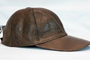 New 100% Real Genuine Lambskin Leather Baseball Cap Hat Sports Visor 40 COLORS