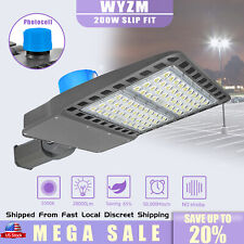200W Led Flood Light with Adjustable Slip Fitter Mount Dusk to Dawn Commercials