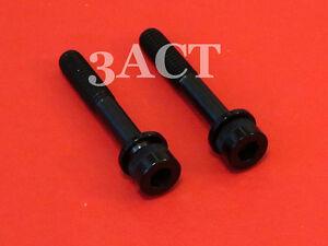 2 Black Titanium Bolt w/ Ti Washer M6 x 37.9mm Shimano Disc Brake Caliper Mount