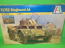 Italeri 1/35th Scale WWII British STAGHOUND AA Tank Model Kit 6463 New!