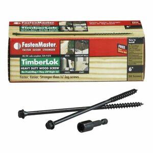TimberLok Heavy Duty Wood Screws 200MM PACK OF 50