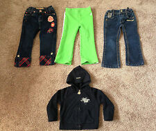 4pc. Lot Girl's Authentic Rocawear, Apple Bottom, etc.. Top & Bottoms, Size 2T