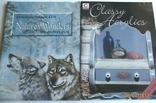 NATURE'S WONDERS/ACRYLIC/HUBBARD  ANIMALS PAINT BOOK+Classy Acrylic NEW  TOLE