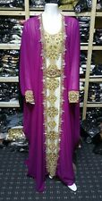 2-tlg. Hochzeit Farashas.khaliji Farasha.dress.moroccan / Indian Kaftan.abaya