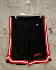 MENS VINTAGE Champion brand mesh gym shorts D.A.R.E. logo size large black red