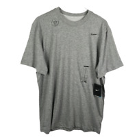 Nike Dri Fit Mens Basic T Shirt XL Gray Short Sleeve Cotton Crew Neck Tee NEW!