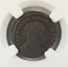 AD 310-313 Roman BI Reduced Nummus Coin Maximinus II London Mint NGC XF AKR