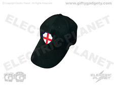 Light-Up EL England St George Cross Baseball Cap - Black, One Size 100% Cotton