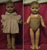 VINTAGE 1930S COMPOSITION/CLOTH BLUE EYE ARRANBEE NANCY DOLL