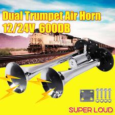 12v Super Loud Dual Trumpets Car Electric Horn For Car Truck Boat Train 600db W
