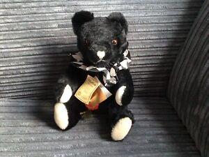 Teddy Hermann Original Black Mohair Teddy Bear.