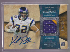 2011 Topps 5 Star Kyle Rudolph On Card Auto 2 Color Patch Rc Serial # to 120