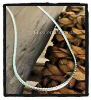 Collier Fin Maille Anglaise 40 cm Argent Massif 925/000 Bijoux Femme