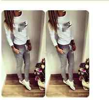2017 New Women 2Pcs Tracksuit Hoodies Sweatshirt Pants Sets Sport Wear Suit
