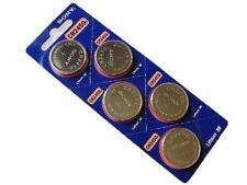 5 x Super Fresh New Sony CR2450 ECR 2450 3v LITHIUM Coin Cell Battery Exp. 2027