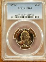 1971-S Washington Quarter 25C  PCGS PR68 **Check it Out** #AA217