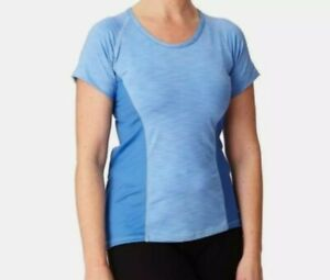 Moxie Blue Azure Large Colorblock Cycling Tee Shirt Top Jersey NWT