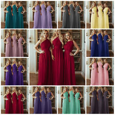 1 Shoulder Chiffon Bridesmaid Wedding Dresses Gown Prom Evenin Maxi Plussize