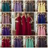 One Shoulder Chiffon Bridesmaid Wedding Dresses Gown Prom Evening Maxi Plus Size