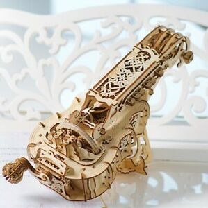Ugears Hurdy Gurdy - Wooden 3D Puzzle Model Functional Playing Instrument