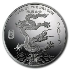 1/2 oz Silver Round 2012 Year of the Dragon