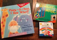 Children's Book Lot-Goodnight Moon Baby Einstein And Peek A Boo Book