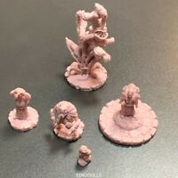 Lot of 5 pink set D&D Cthulhu Wars Miniatures Game Figure Dungeons & Dragon toy