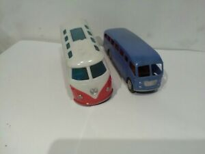 Vintage Plastic Buses Early Manufacturers From Hong Kong One Missing A Wheel...